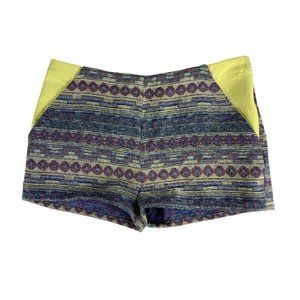 Umgee Large Tribal Dress Shorts 86313 Purple 34 X